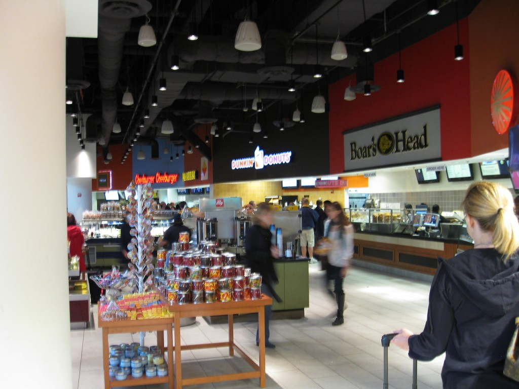 An airport foodcourt for the 21st century
