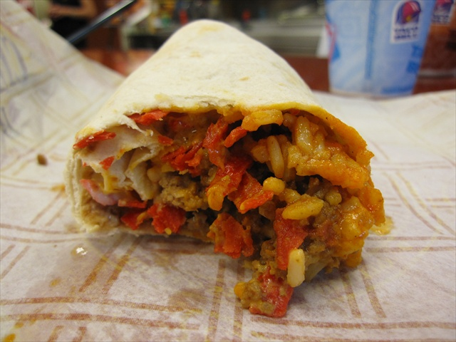 Volcano Double Beef Burrito