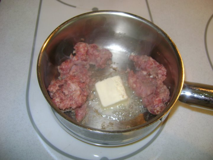 Butter adds flavor to sausage