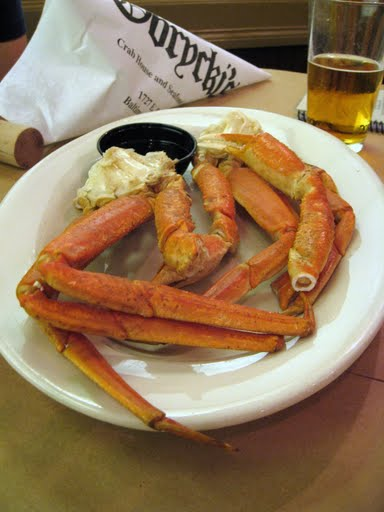 1 lb of snow crab legs dipped in clarified butter.  Holy moly