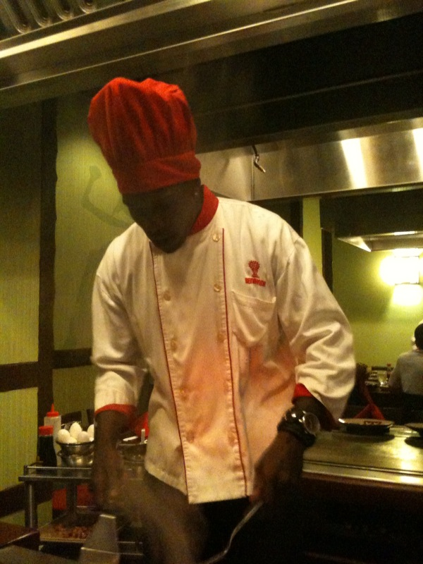 Somehow cooking at Benihana..????